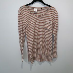 CAbi Skipper Long Sleeve High Low Top, Size M